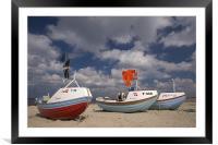 Sandy Harbor, Framed Mounted Print