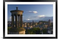 Edinburgh view from Calton Hill, Framed Mounted Print