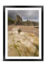 St.Andrews beach and castle, Framed Mounted Print