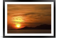 Outer Hebrides sunset, Framed Mounted Print