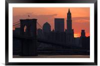 New York sunset, Framed Mounted Print