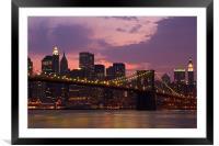 New York @ night, Framed Mounted Print