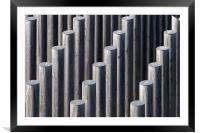 Diagonal Sticks, Framed Mounted Print