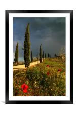 Toscana thunderstorm, Framed Mounted Print