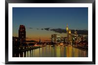 Golden City , Framed Mounted Print
