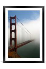 Half bridge, Framed Mounted Print