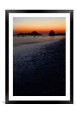 Rocky beach, Framed Mounted Print