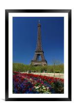 Eiffel Tower, Framed Mounted Print