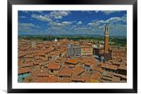 Siena Panoramic I, Framed Mounted Print