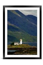 Scottish lighthouse, Framed Mounted Print