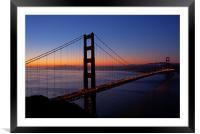 Golden Gate before sunrise, Framed Mounted Print