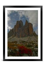Lavaredo Pass, Framed Mounted Print