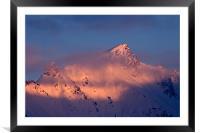 Alpine sunset II, Framed Mounted Print