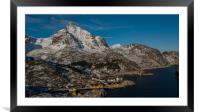 Nusfjord, Framed Mounted Print