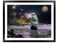 Her Guiding Star, Framed Mounted Print