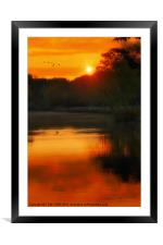 SOLITARY SANCTUARY, Framed Mounted Print