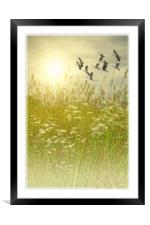 IN GOD'S COUNTRY, Framed Mounted Print