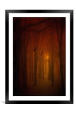 THE LIGHT IN THE FOREST, Framed Mounted Print
