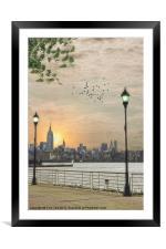 GOOD MORNING NEW YORK, Framed Mounted Print