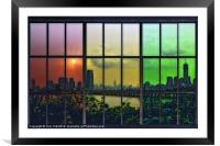 SHADES OF NEW YORK, Framed Mounted Print