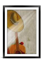 ONE NOTE, Framed Mounted Print