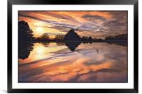 SUNSET IN AUTUMN, Framed Mounted Print
