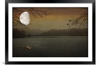 LUNAR LAKE, Framed Mounted Print