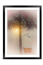 MORNING IN THE PARK, Framed Mounted Print
