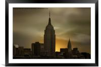 WAKE UP NEW YORK, Framed Mounted Print