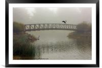 A MEETING IN THE FOG, Framed Mounted Print