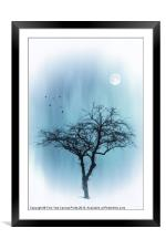 A TREE IN BLUE, Framed Mounted Print