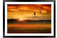 Sunset Serenity, Framed Mounted Print