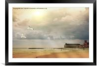 A Day At The Beach, Framed Mounted Print
