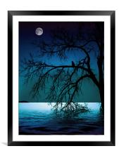 WATCHING THE RIVER FLOW II, Framed Mounted Print