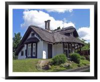 Sulham Cottage, Framed Mounted Print