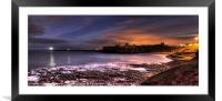 Priory and Bay, Tynemouth, Framed Mounted Print