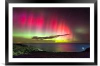 Northern Lights - St. Abbs Head, Framed Mounted Print