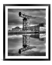 The Crane, Framed Mounted Print