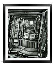 Baltic Stairs., Framed Mounted Print