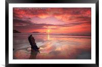 SHIPWRECK SUNSET, Framed Mounted Print