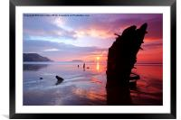 worms head ship wreck, Framed Mounted Print