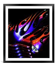 Flaming Classic, Framed Mounted Print