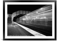 Midnight Express Train, Framed Mounted Print