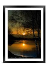 Lagoons Sunset, Framed Mounted Print