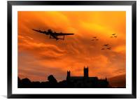 Lancaster Lincoln Sunset, Framed Mounted Print