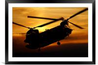 RAF Chinook, Framed Mounted Print