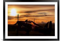 Hurricane Sunset, Framed Mounted Print