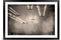 Over the Target, Framed Mounted Print