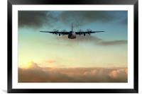 C-130E Inbound, Framed Mounted Print