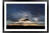 Vulcan Take Off, Framed Mounted Print